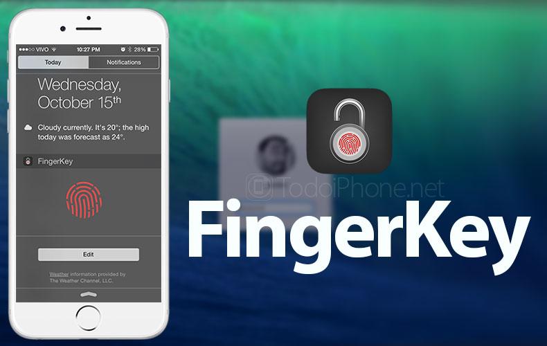 Aplicación FingerKey para desbloquear Mac con iPhone Touch ID 2