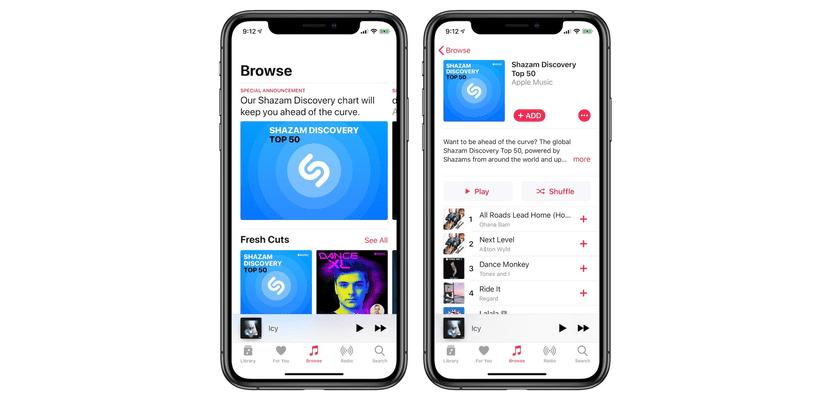 Apple Musik meluncurkan daftar putar Shazam Discovery baru, daftar putar dengan paling banyak didengar setiap minggu