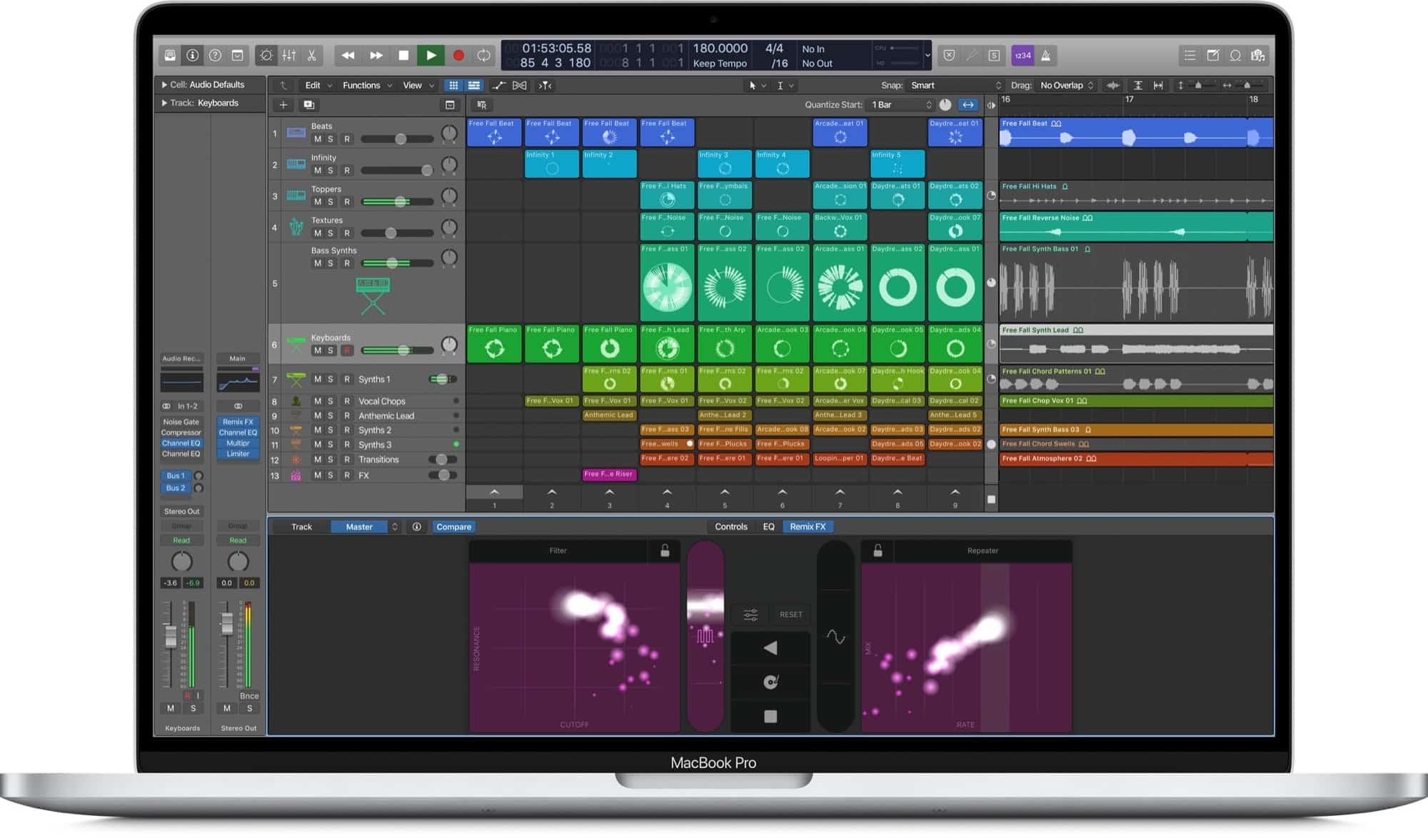 Apple filtrar la nueva función Logic Pro X Live Loops