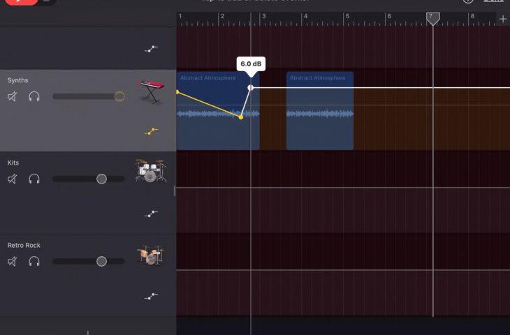 Cara menyesuaikan volume lagu di GarageBand di Mac dan iOS 1