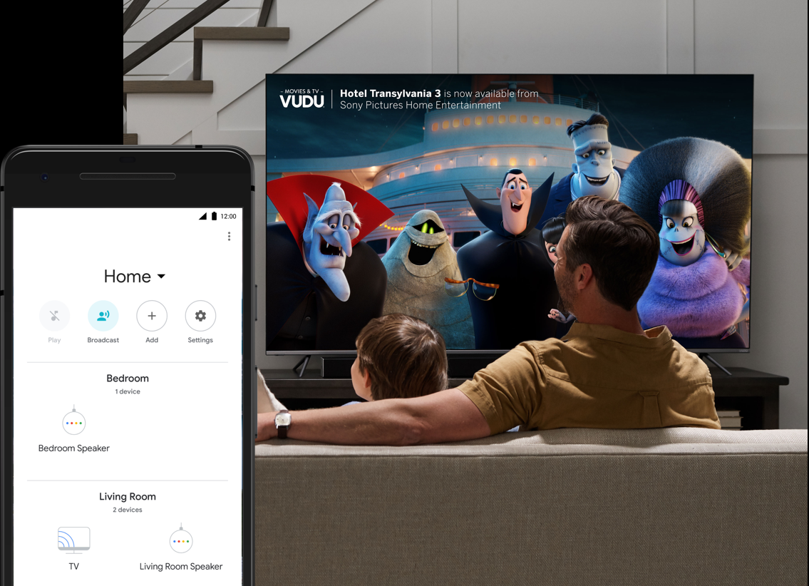 Google Home to Vizio Smart TV