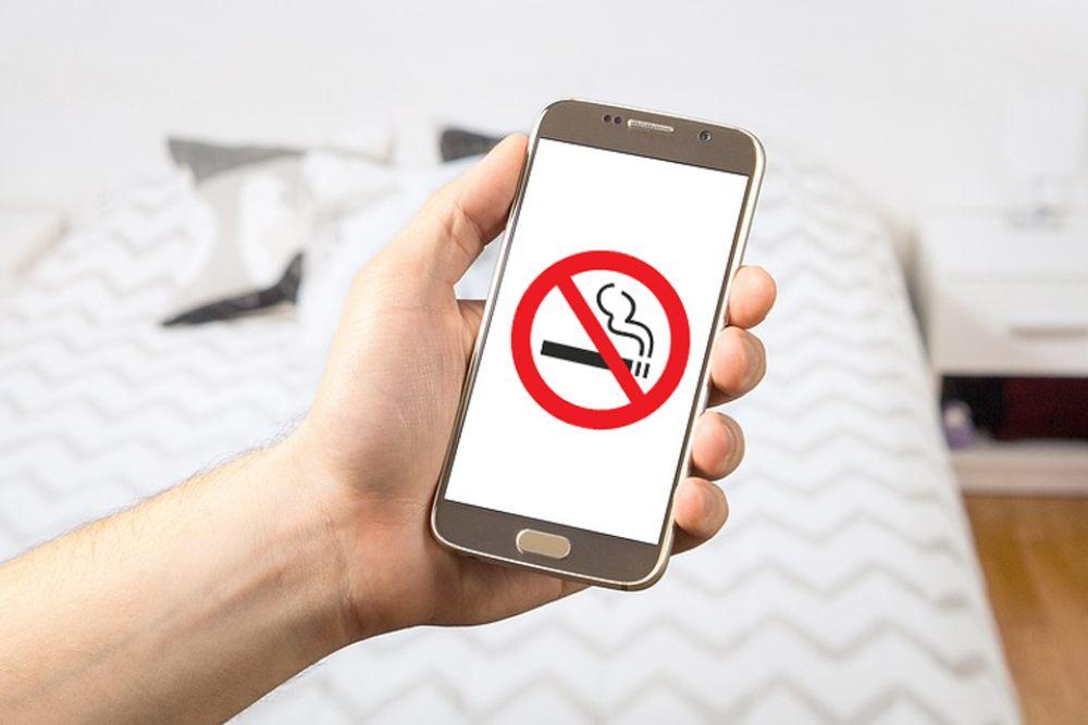 Berhentilah merokok berkat ponsel