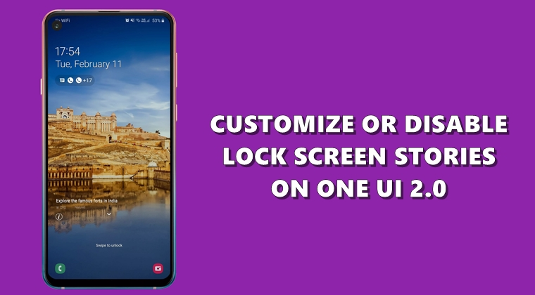 lock screen one ui