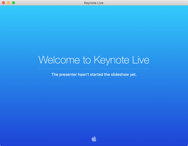 Bienvenido a Keynote Live Mac