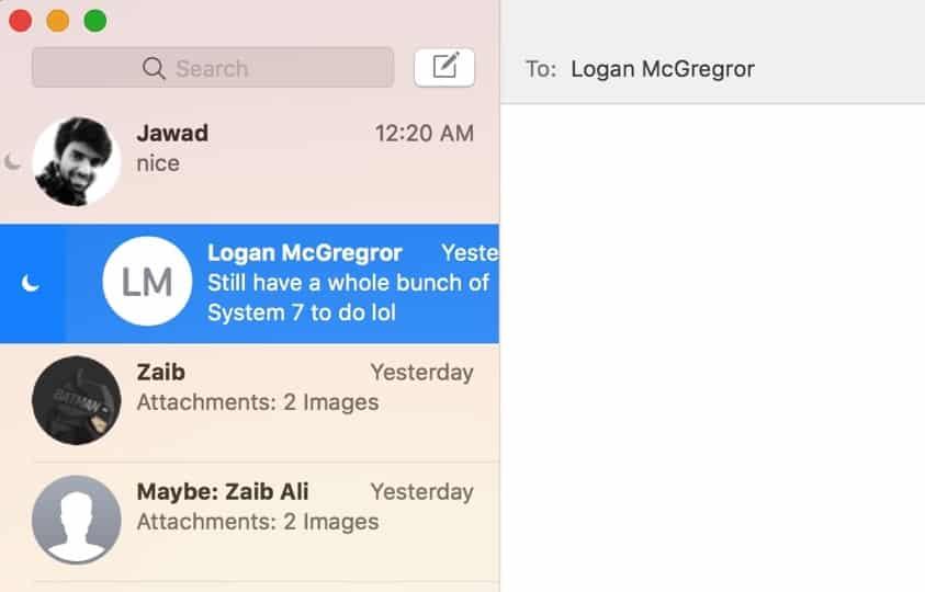 Letakkan Percakapan Individual pada Jangan Ganggu di Pesan untuk Mac (TIP)