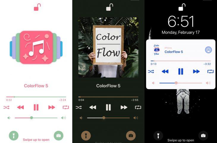 ColorFlow 5 memberikan antarmuka Now Playing iOS 13 lapisan cat baru 1