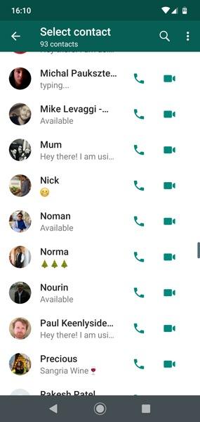 Hur man skapar Whatsapp-gruppvideokontakter