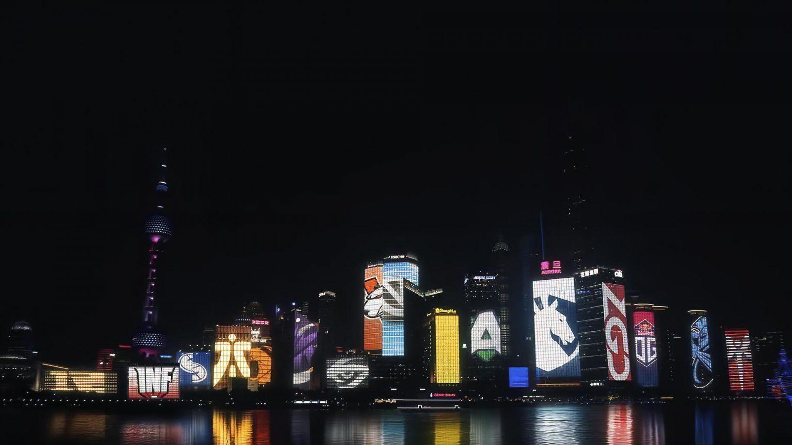 Dota 2 International diselenggarakan dengan langit malam yang mengesankan di Shanghai