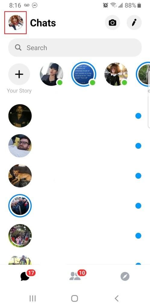 Qaranlıq rejimi necə aktivləşdirmək olar Facebook 2