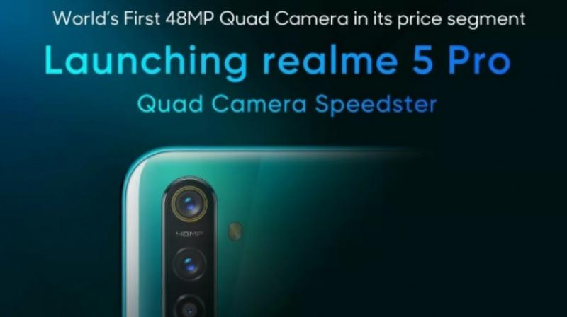 The Realme 5 Pro will be supported by the company's VOOC Flash Charge 3.0 technology offering 55 percent charge in 30 minutes.