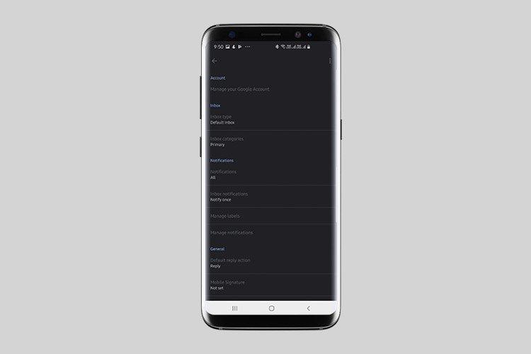 Mode Gelap Asli Akhirnya Mulai Memulai Untuk Gmail di Android