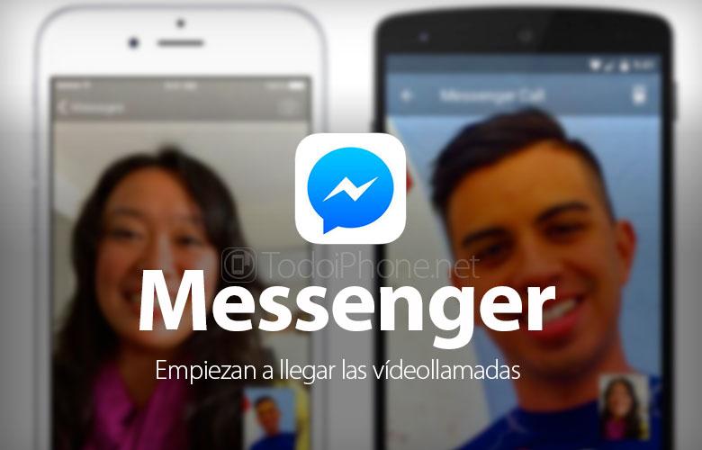 Facebook Messenger  comenzar a activar videollamadas 2