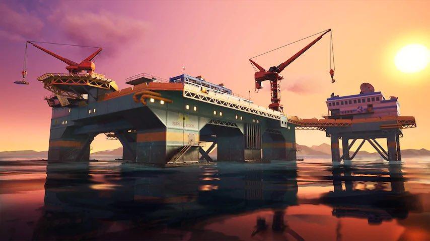 Fortnite: Cambios en el mapa de temporada 2 - Plataforma petrolera, yate, guarida secreta 2