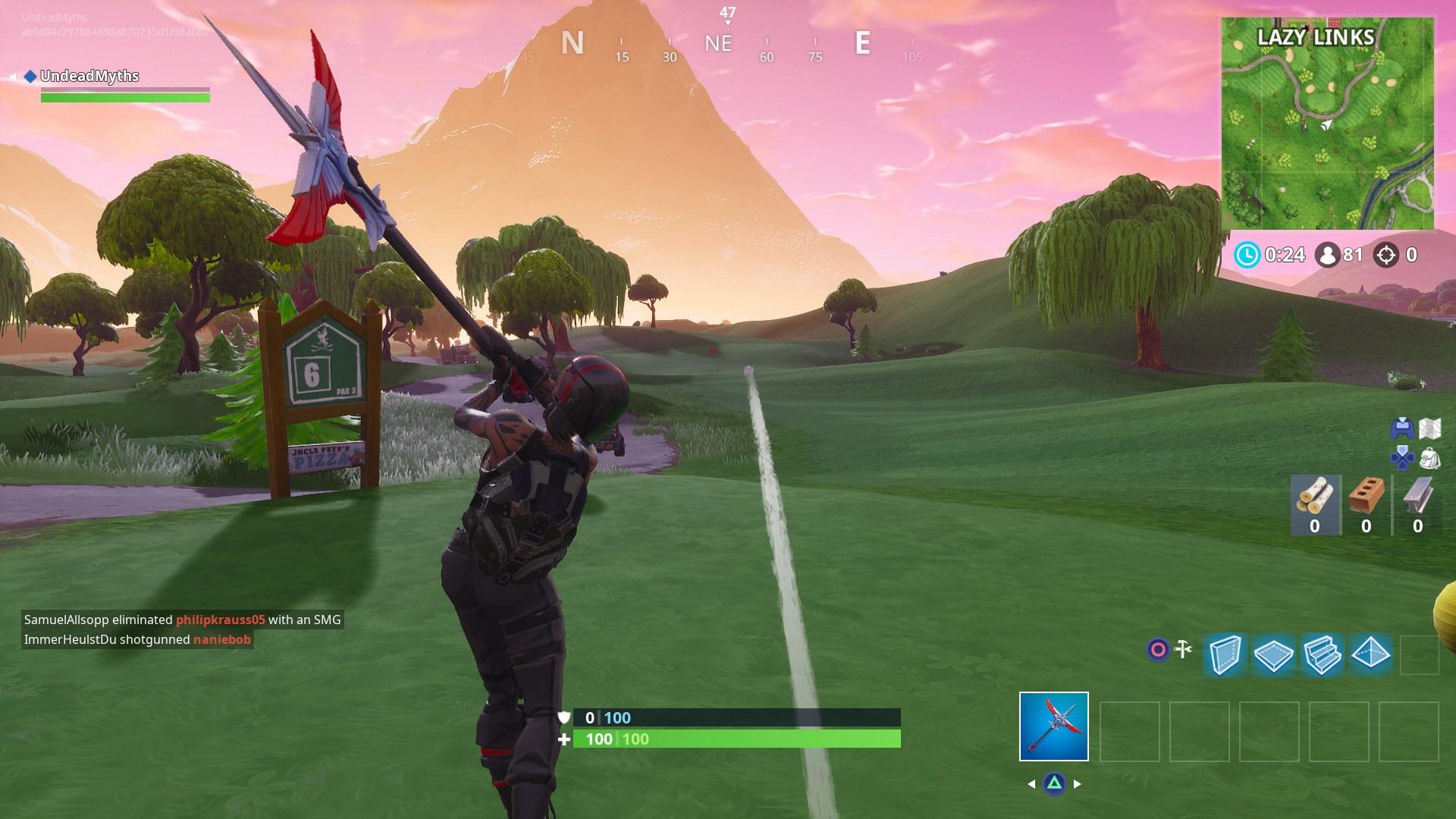 Fortnite Osuta golfpalloa teeltä …