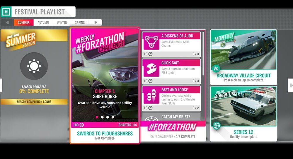"Forza Horizon 4 #Forzathon 1-8 Elokuu: ""Sword for aughhares"""