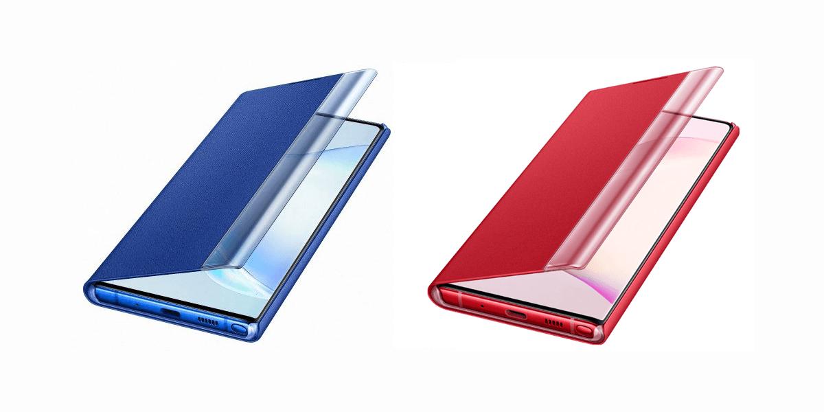 Galaxy Note  10 aksesoris bocor, pamer warna 'Aura Red' dan 'Aura Blue'