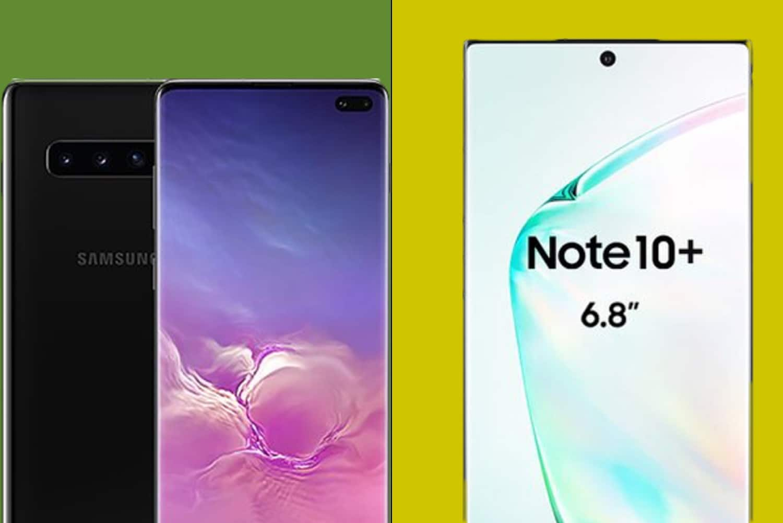 Galaxy Note        10+ vs Galaxy S10 +: 6 différence principale 1