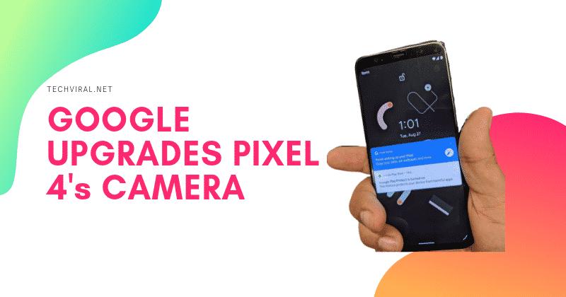 Google Pixels 4 Korjataan pääkamera