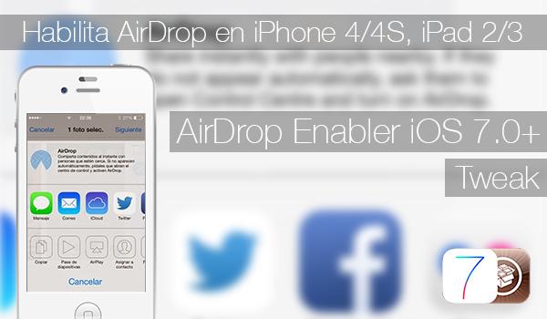 AirDrop Enabler iOS 7 - Ajustar