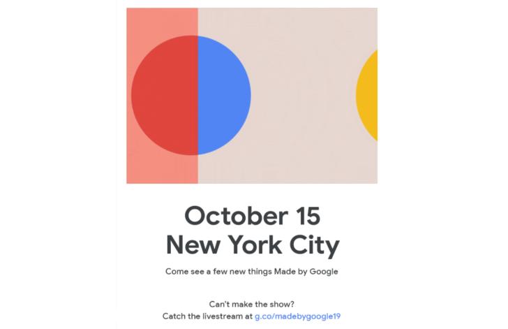 Dibuat oleh Google Pixel 4 acara ditetapkan untuk 15 Oktober di New York City