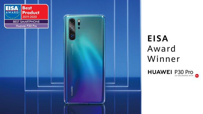"""Huawei P30 Pro voitti EISA """"Vuoden paras älypuhelin"""" …"""