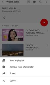 Daha Sonra İzle'deki tüm videolar nasıl silinir YouTube 2