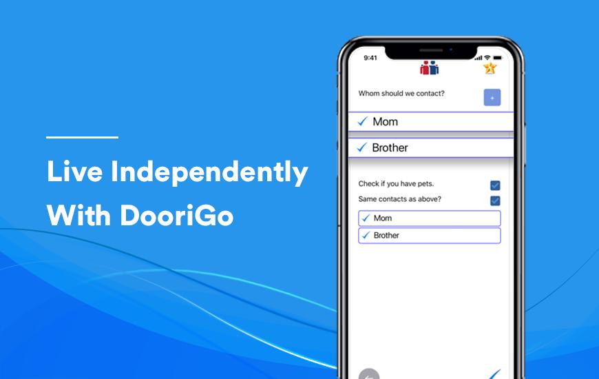 La aplicación Doorigo le permite a su contacto saber si le está yendo bien