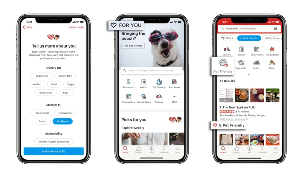 Yelpin iPhone-sovellus saa vihdoin uusia ominaisuuksia …
