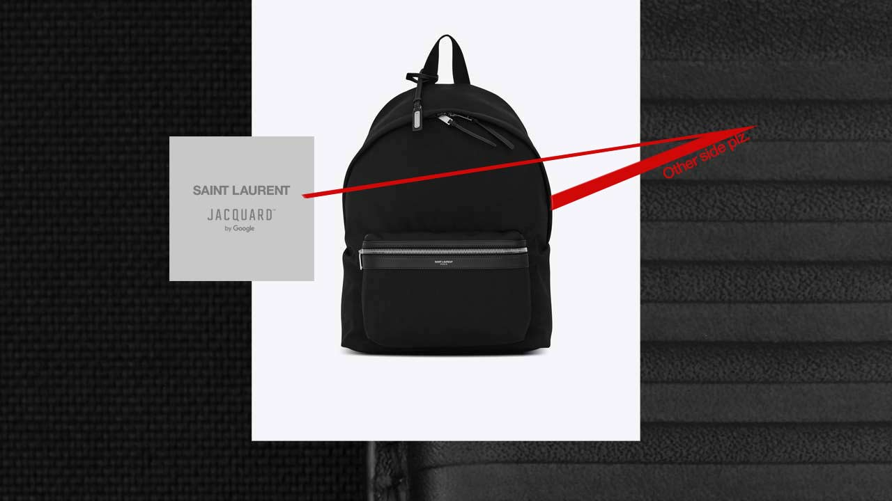 The YSL CIT-E backpack is part of Google's upcoming smart fashion Jacquard 1