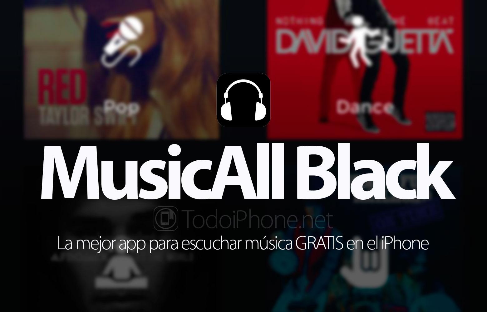 MusicAll Black, aplikasi terbaik untuk mendengarkan musik GRATIS di iPhone 1