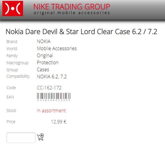 Nokia 6.2 ja 7.2 jakaa selkeän tapauksen (CC-162/172) ja kääntöosan (CP-162 …