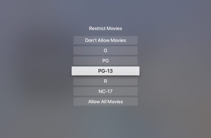 Baru terhadap Apple TELEVISI? Cara mengatur batasan konten 1