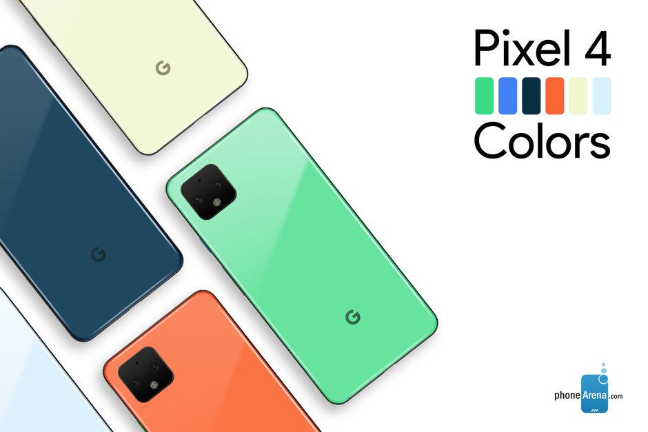 New Pixel 4 color options based on Android 10
