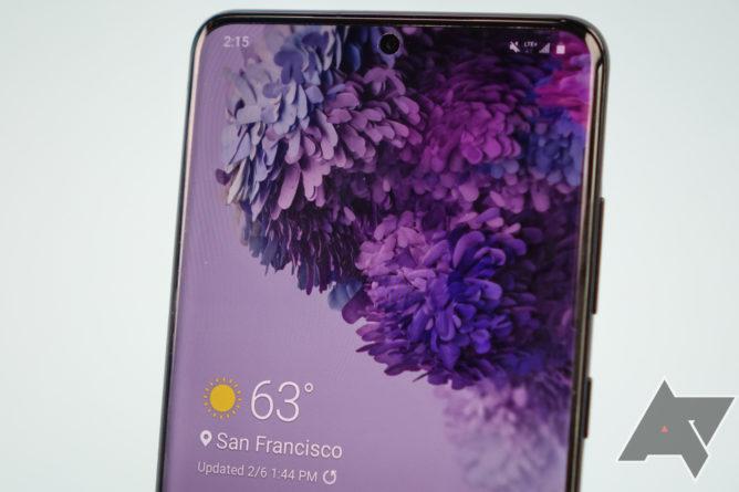 Itu Galaxy S20 eschews membuka kunci wajah aman untuk pembaca sidik jari lainnya dalam-tampilan