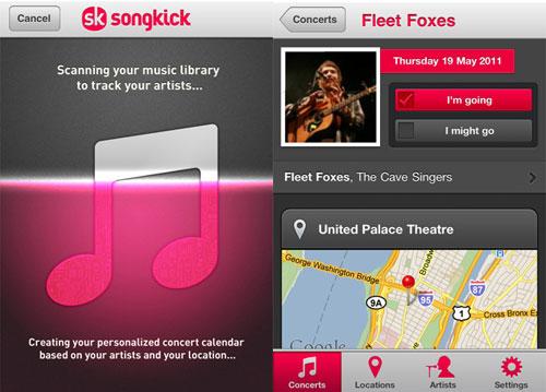 Songkick -konserttikatsaus |  tavarat