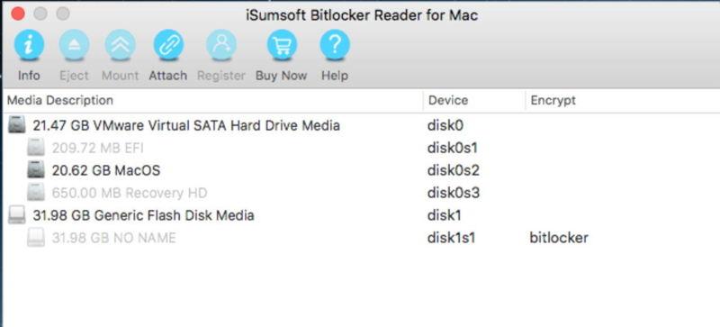 ISumsoft BitLocker Reader cho Mac xem xét 2