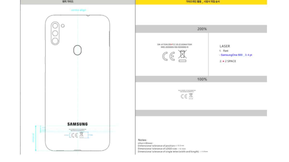 Samsung Galaxy A11 Spotted on US FCC With 4,000mAh Battery, Triple Rear Cameras