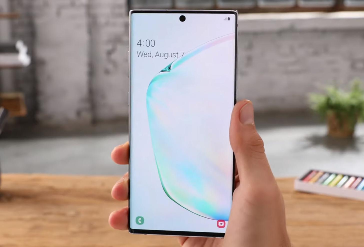 Samsung Galaxy Note  Layar 10+ menghasilkan 'Nilai A + Tertinggi' dari DisplayMate