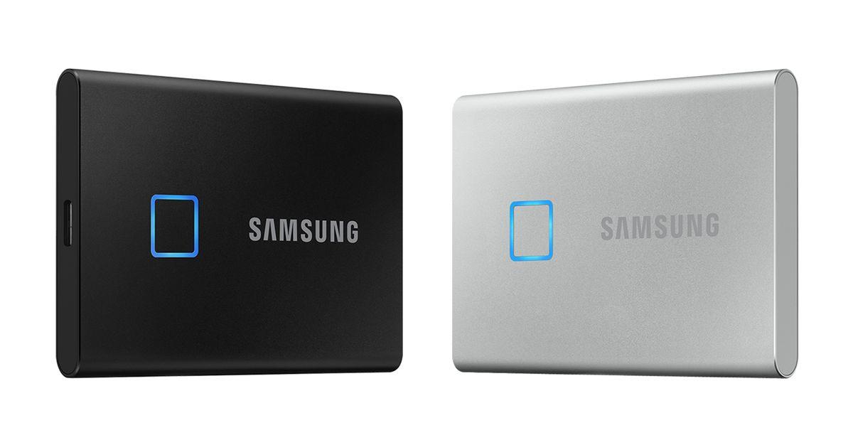 SSD Samsung T7 Touch đi kèm với cảm biến vân tay 2