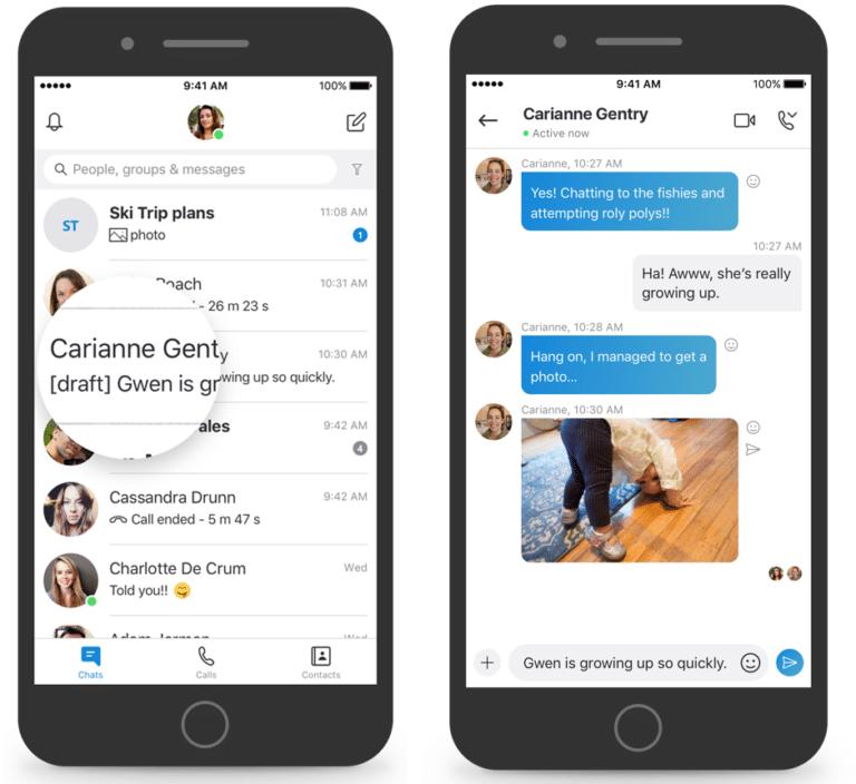 Skype iOS: lle ja Mac: lle Hanki viestiluonnoksia, kirjanmerkkejä …