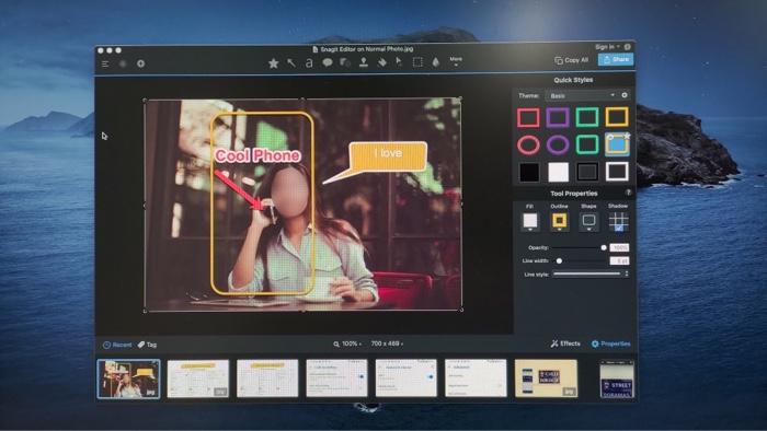 Snagit vs Native Captura de pantalla en Mac y PC