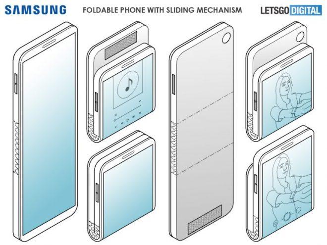Teléfono plegable Samsung con capacidad Fold en dos direcciones, según la nueva patente 2