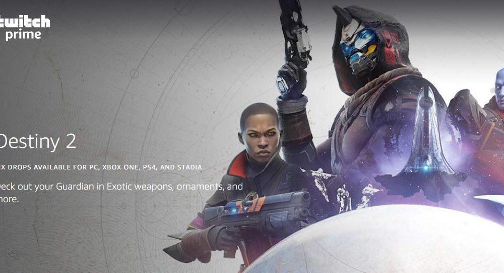 Twitch Prime menambahkan jarahan Destiny 2