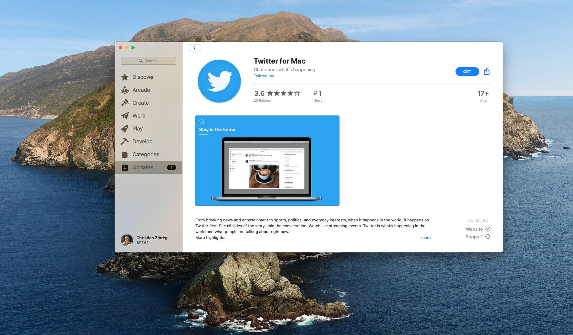 Twitter  para Mac mejora la compatibilidad con Touch Bar, solucionando problemas de congelación de aplicaciones 2
