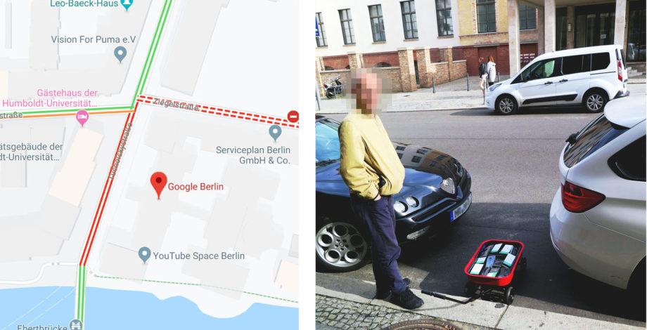 Seorang pria mendorong sekitar 99 ponsel di kereta untuk membuat kemacetan di Google Maps