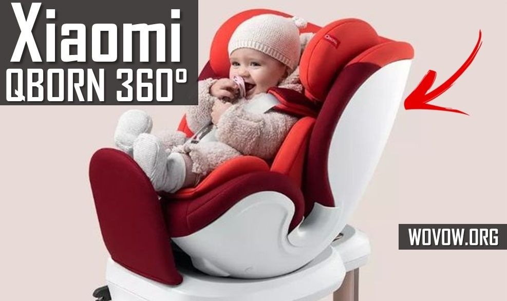 Xiaomi QBORN 360 ° FIRST REVIEW: Car seat with 360 rotation ... 1