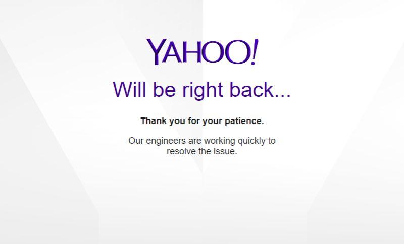 Yahoo Mail sedang Down; Pengguna Juga Tidak Dapat Mengakses Situs Web Resmi