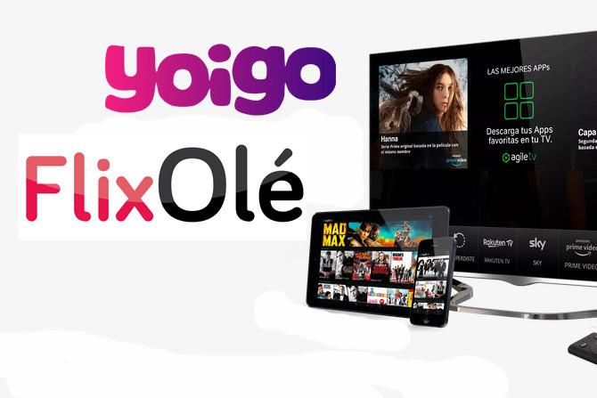 Yoigo meningkatkan taruhan televisinya: sekarang FlixOlé memberikan tiga bulan gratis untuk semua kliennya