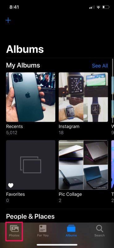 Cómo agregar fotos a un nuevo álbum de fotos en iPhone y iPad con iOS 13