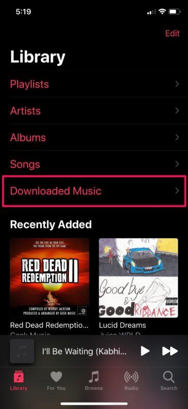 Cómo descargar música de Apple Música para escuchar sin conexión